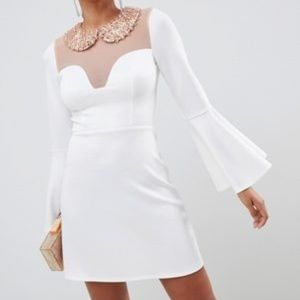 new ASOS embellished peter pan collar dress 6 s